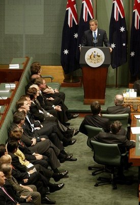 GW Bush 2003 Canberra address