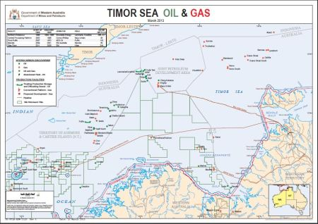 Timor Sea - oil and gas reserves